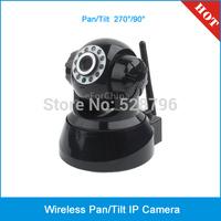 Wireless Pan-Tilt Internet IP Camera, Support 2 way audio, Pan Coverage: 270 degree, Tilt Coverage: 90 degree.(EU Plug)