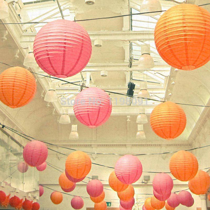 "20pcs 16""/40cm Color Chinese Paper Lantern Holiday Festival Romantic Wedding Doecorative Round Lanterns Free Shipping(China (Mainland))"