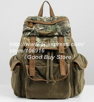 Style Unisex Vintage Camouflage Canvas Bags Sportsman & Fashion Woman Essential Wild Section Casual Backpacks