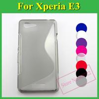 1 X Soft TPU Gel S line Skin Cover Case For Sony Xperia E3 / Dual D2203 D2206 D2243 D2202