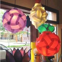 Colorful 30 PCS Dia 25cm DIY Modern Elements IQ Jigsaw LED Ceiling Puzzle Shade Light Christmas Gift Ball Pendant Lamp Lighting
