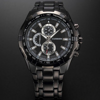 Hot Selling CURREN Brand Luxury Sports Watch Men Quartz Watches Classic Black Casual Wristwatch Military Full Steel Relogio