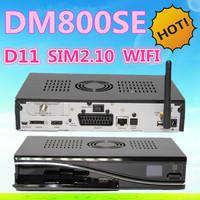 Newest D11 version DM800se Sunray 800hd se sim2.10 WIFI DM800hd SE With WIFI DM800 SE Digital Satellite Receiver Free Shipping