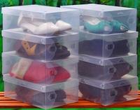Children's Clamshell Transparent Plastic Shoe box Storage boxes