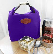 1pcs  Polyester fabrics & Aluminum insulation texture Waterproof Lunch Tote Thermal Insulated Cooler Storage Picnic Pouch Bag(China (Mainland))