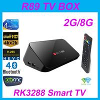 UBOX R89 RK3288 Android TV BOX Quad Core 1.8GHz 2G/8G H.265 XBMC OTA HDMI 4K*2K WiFi RJ45 OTG SPDIF Android 4.4 Smart TV