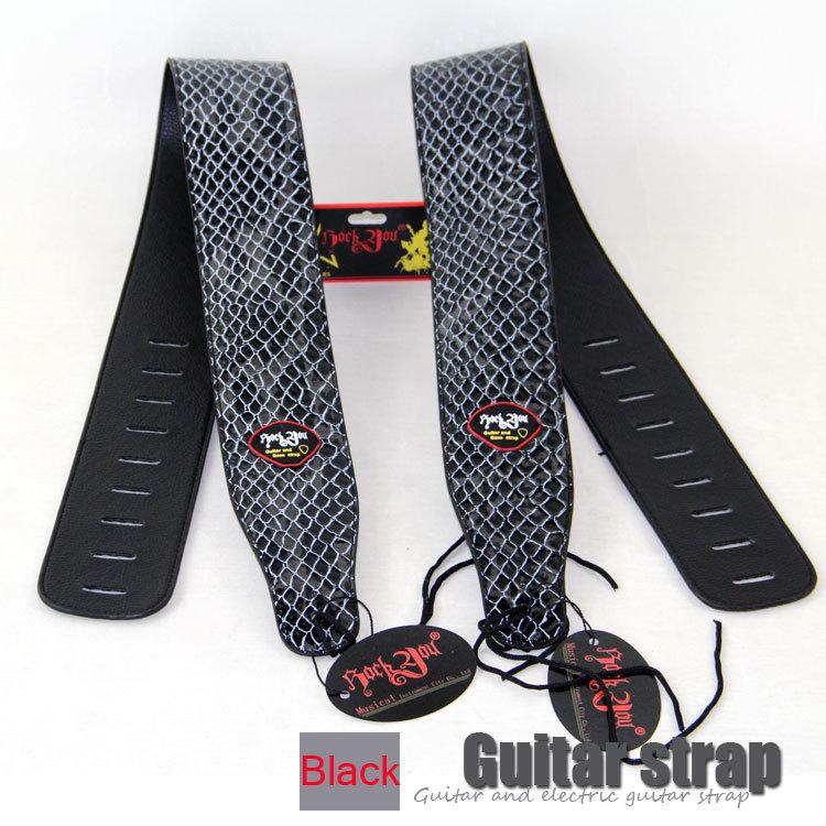 NEW Crocodile design 2.7 inchPU brand guitar strap, widening, folk guitar straps, electric guitar, electric bass strap(China (Mainland))