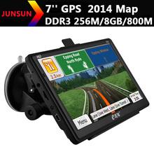 7 inch Car GPS Navigation 256M/8GB/ 2014 Maps RussiaUkraineIsraelSpainArgentinaBrazilUSEurope map vehicle gps navigator