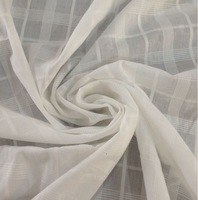 Pure 100% Cotton Grid Gauze Fabric small jacquard weave 145 cm 57'' width 100 gsm shirt fabric sewing fabric small wholesale