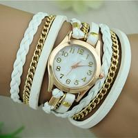 New Fashion Retro Vintage Women Gold Dial Dress Watches Leather Strap Quartz Wrist Watches BW-SB-1071