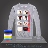 2014 New JORDAN #23 Basketball Supper Star Chicago Tops Clothing Cotton Jigsaw Printed Men Training Long-sleeved Tops