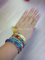 KB42 New Statement Hipanema Bracelets & Bangles 2014 Latest Fashion Brazilian Bohemia Handmade Magnetic Cuff Jewelry Chunky Item