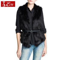 Hot Sale Winter Jacket Women New 2014 Fashion Slim Casual Waistcoat Outdoor Warmth Fur vest For Women