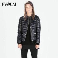 FYOUAI 2014 Fashion Winter Coat Women Casual Slim Padded Cotton Jacket Outdoor Warmth Parkas Outwear