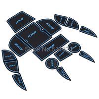 Fit for Mazda CX-5 CX5 cx 5 free shipping  16pcs/lot Blue Door gate slot pad/mat, tank gasket , cup mat/pad, non-slip pad
