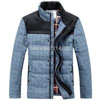Men's wholesale new peach skin thicker standing collar down-jacket Men winter jacket men