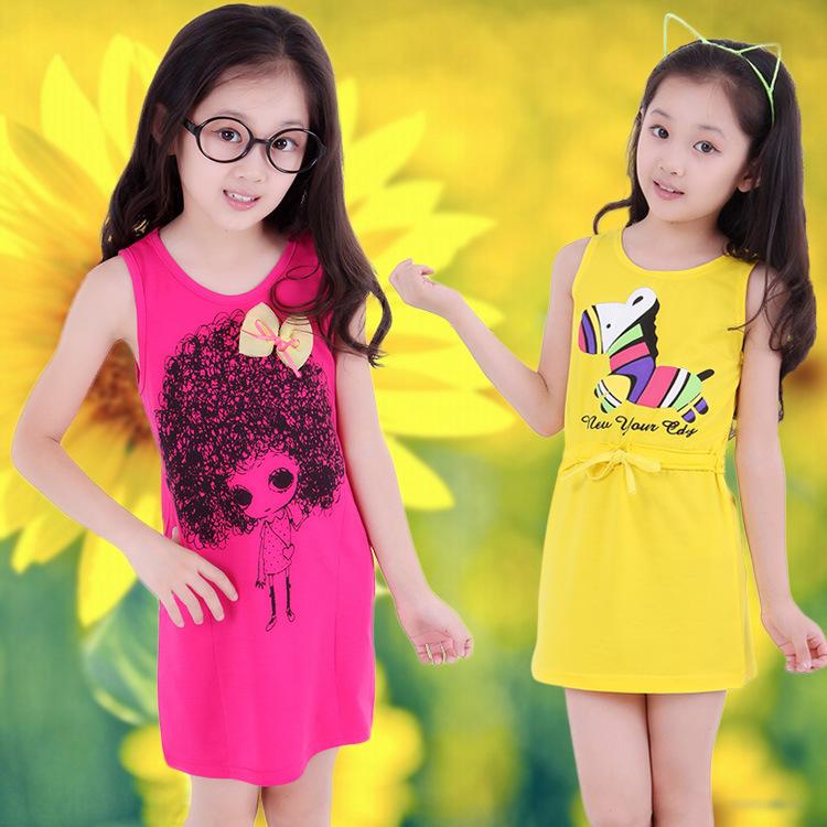 2015 new girls dress summer cool heart sundress cute baby girl dress kid fashion teenage girls fashion 10 years style vestidos(China (Mainland))