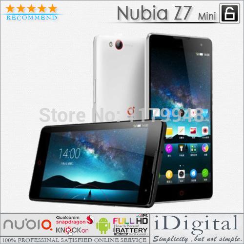 "ZTE Nubia Z7 Mini MAX Phone 5.0"" 1920*1080px 16GB Quad Core 2.0GHz 2GB RAM 13.0MP Androis OS 4.4 GPS 3G WIFI Smartphone(China (Mainland))"