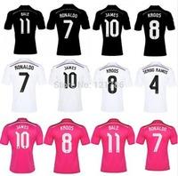 A+++ Real Madrid 14 15 Champions League AWAY black Soccer Jersey Real Madrid  Real Madrid black Jersey Football shirt BALE