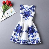 20 styles Fashion Women dress sleeveless Vintage Fashion patchwork Print Flare vestidos desigual women summer casual dress