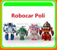 4PCS/Set Robocar Poli Transformation Robot Car Toys South Korea Thomas Classic Action Figure Toys Gift  For Children