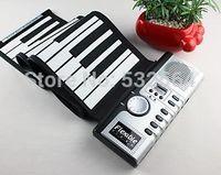 Christmas Gift 61 Keys Portable Flexible MIDI Digital Folding Soft Keyboard Piano