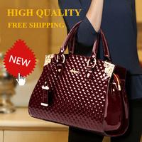 EUROPE WIND High Quality Luxury 2014 Design Fashion Bag Women Leather Handbag Patent Leather Bags Women Messenger Bag Women Tote