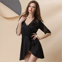 Magicdream Short Europe Style Women Straps Sleepdress Snidel Lingerie Sexy Sweet Nightgowns Women Solid Nightwear Sleepwear
