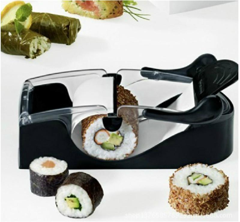 Perfect DIY Roller Machine Roll Sushi Maker Easy Kitchen Magic Gadget Cooking Tools Curtain Bento Acessorios De Cozinha Rolls(China (Mainland))