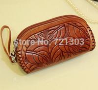 women fashion genuine leather wallet bag female handmade bag cowhide coin purse free shipping