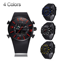 WEIDE Brand watch Men Sports Watches  led clock army relogio masculinos 2014 Multifunction Outdoor Military Watch  Steel Case