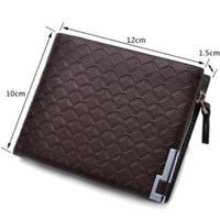 Genuine Leather Brand Multifunctional Zipper Coin Purse Card Holder Men wallet