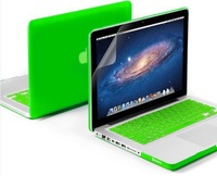 NEW  four colors laptop case protective shell for Mac book Air 13 11/notebook for macbook pro 13 15 retina+keyboard cover