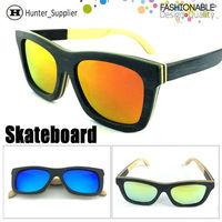 New Skateboard Wood Sunglasses Women Polarized Coating Wooded Glasses High Quality Eyeglasses Fashion Beach Accessories ESWD701