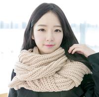 Girls winter neck scarf pretty lady wholesale 2014 new fasion girls pretty long style winter acrylic unisex winter knit scarf