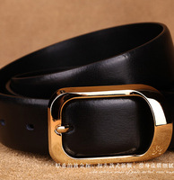 Designer men belts 2015 New nature cowskin High quality  leather Brand Luxury  Male Black/Brown Strap MBP021-4B