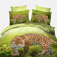 Promotion! 3D Bedding Sets Animals King Size 3D Duvet Cover Set Tiger Lion Horse Luxury 3D Bedding Set Wholesale/Dropship #15