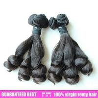 Super quality hair pad half srping miracurl hair 100% human brazilian virgin hair 2sets eurasian hair spring loose double drawn
