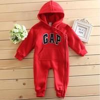 Free shipping 2014 autumn & Winter Baby Bodysuit Boys & Girls thick cotton Infant clothes brand baby wear Newborns warm Retail