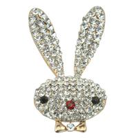 Fashion Cute Bunny Crystal Rhinestone Rabbit Brooch