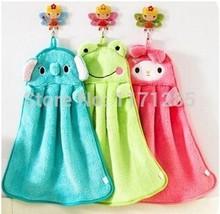 Nueva creativo lindo microfibra Animal Kids niños de la historieta absorbente toalla de mano en seco precioso Toalla Para Cocina Baño uso(China (Mainland))