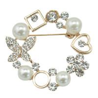 Elegant White Pearl Brooch Garland For Bridal