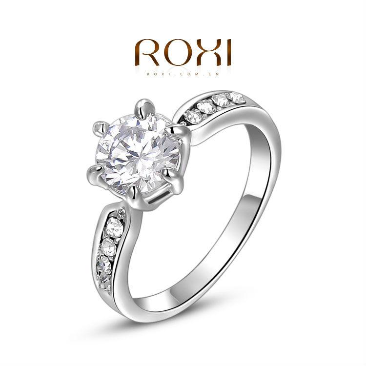 Aliexpress.com: Acheter Roxi anneaux de mariage pour les femmes argent ...