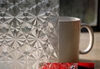 3D No glue  electrostatic laser  Windows Glass Stickers stone design pvc and PET  60*100CM use bathroom office
