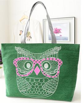 Цена от производителя новый 2014 сова печать холщовый мешок свободного покроя женщин сумки сумки на ремне сумки сумки дешевые сумки бесплатная доставка C536