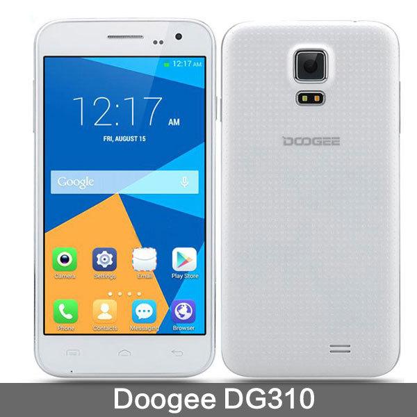 Hot Mtk6582 Doogee Mobile Phone DG310 Cell Phones Smartphone Android 4.4 Original Quad Core 1080P Black White(China (Mainland))