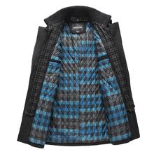 Brand winter men wool coat men's warm woolen jacket trenchcoat pea coat down parka  thick down-jacket  parkas overcoat(China (Mainland))