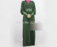 V-Neck ITY Rhinestone Muslim Clothing For Women,Islamic Abaya Malaysia,Arabic Jilbabs,Clothing For Pregnant,Free Shipping