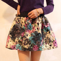 2014 Autumn and winter new design skirts womens Ink and wash woolen skirt adjustable tutu bust skirt free shipping