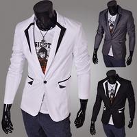 2014 solid hot selling men's solid blazers slim men clothes men's jackets suits fashion PX09